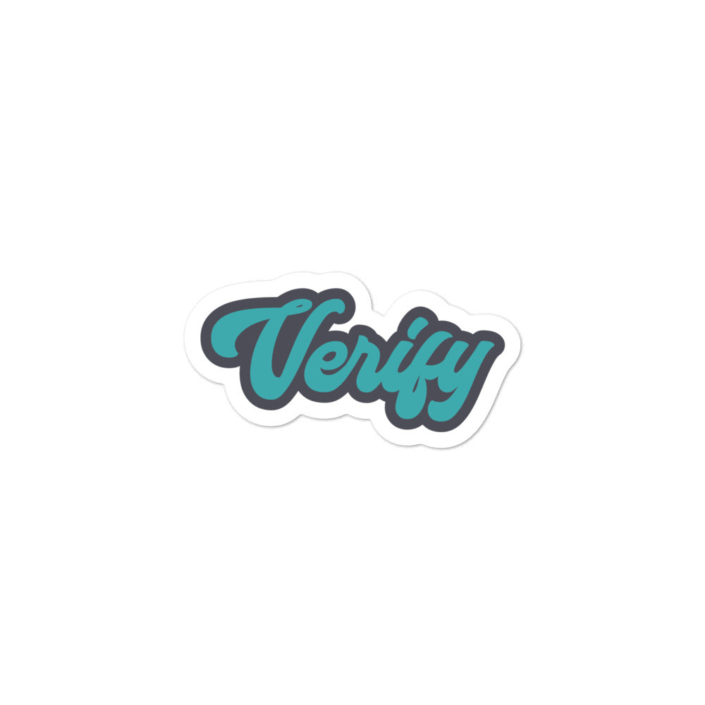 VERIFY Bitcoin stickers - moeda-rags