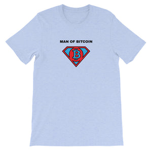 MAN OF BITCOIN Short-Sleeve Unisex T-Shirt - moeda-rags