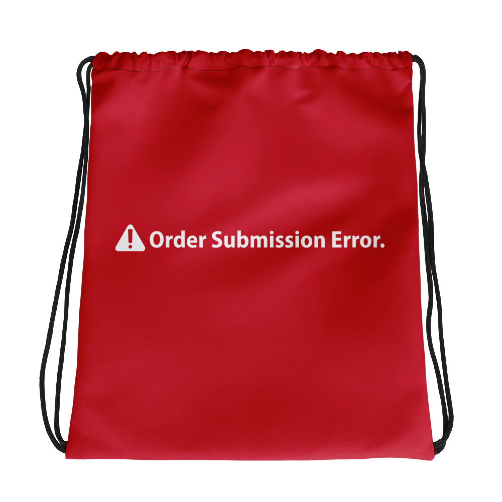 ORDER SUBMISSION ERROR Drawstring bag - moeda-rags