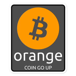 Orange Coin Bitcoin sticker - moeda-rags