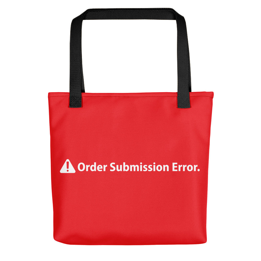 ORDER SUBMISSION ERROR Tote bag - moeda-rags
