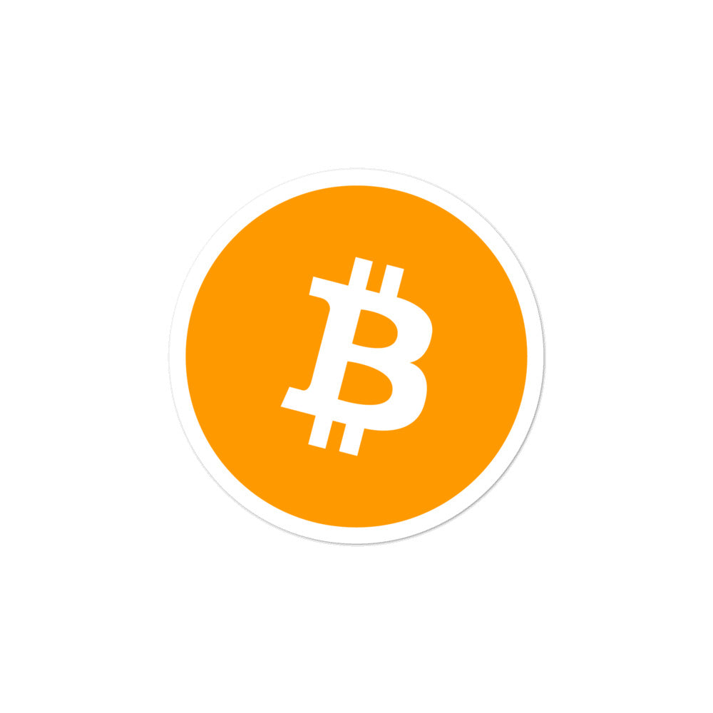 ORIGINAL ORANGE BTC Bitcoin stickers - moeda-rags