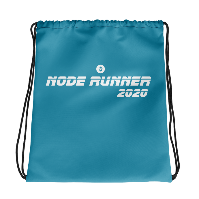 NODE RUNNER Drawstring bag - moeda-rags