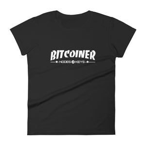 BITCOINER Women's short sleeve t-shirt - moeda-rags