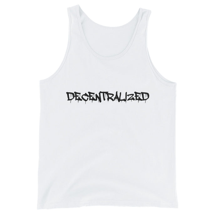 DECENTRALIZED Unisex  Tank Top - moeda-rags