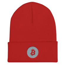 Load image into Gallery viewer, BITCOIN LOGO Cuffed Beanie - moeda-rags