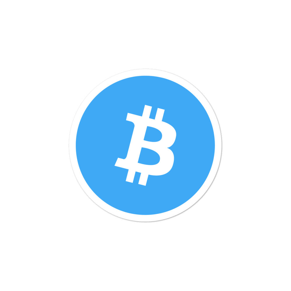 BLUE BTC Bubble-free stickers - moeda-rags