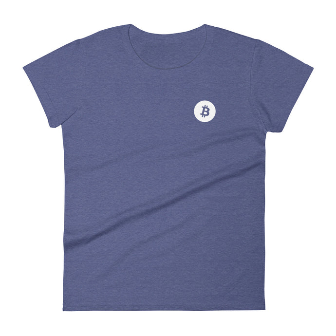 DISCRETE BITCOIN Women's short sleeve t-shirt - moeda-rags
