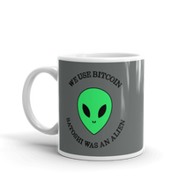 Load image into Gallery viewer, ALIEN Bitcoin Mug - moeda-rags