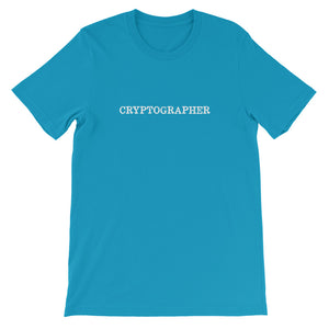 CRYPTOGRAPHER Short-Sleeve Unisex T-Shirt - moeda-rags