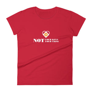 NOT YOUR KEYS Women's short sleeve t-shirt - moeda-rags