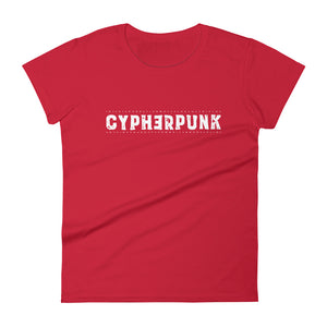 CYPHERPUNK Women's short sleeve t-shirt - moeda-rags