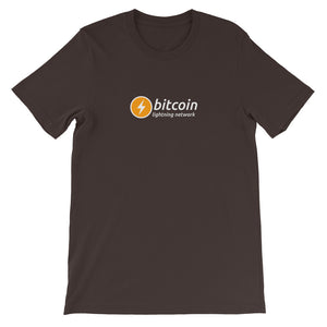 BITCOIN LIGHTNING NETWORK Short-Sleeve Unisex Bitcoin T-Shirt - moeda-rags