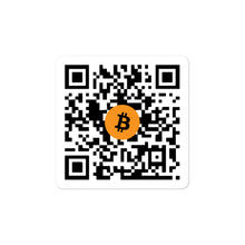 Load image into Gallery viewer, BTC QR CODE Bubble-free stickers - moeda-rags
