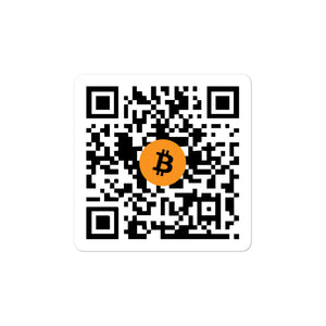 BTC QR CODE Bubble-free stickers - moeda-rags