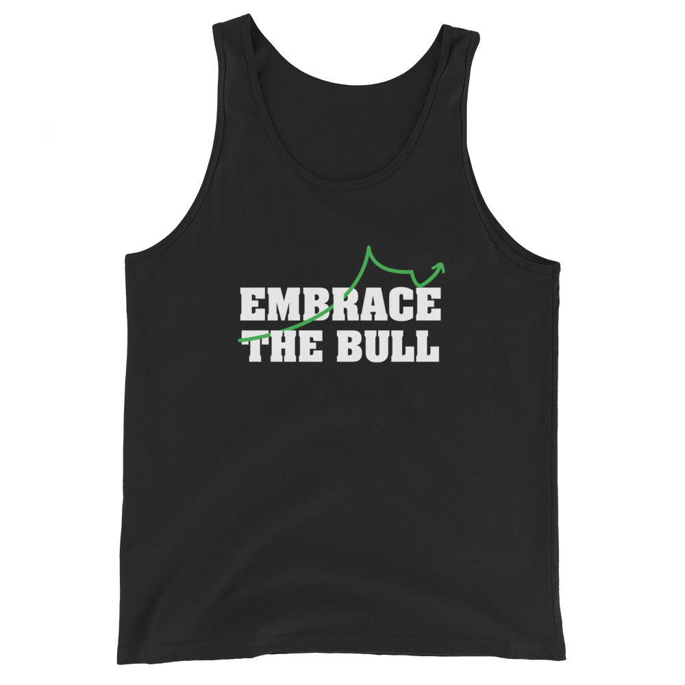 EMBRACE THE BULL Unisex  Tank Top - moeda-rags
