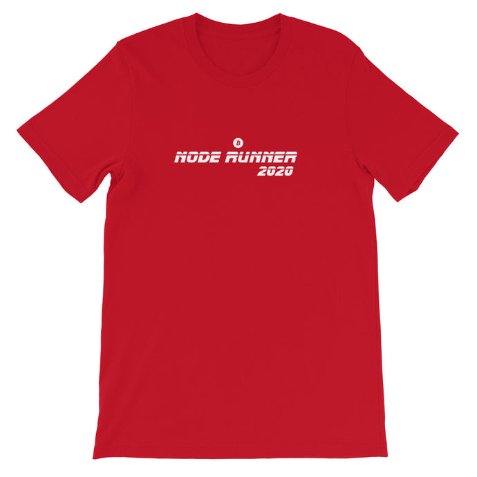 NODE RUNNER Short-Sleeve Unisex T-Shirt - moeda-rags