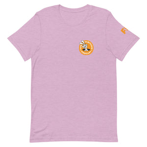 'FUN WITH BITCOIN' PODCAST' with SLEEVE logo Short-Sleeve Unisex T-Shirt