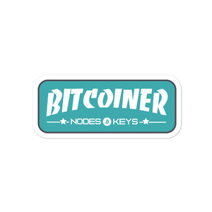 BITCOINER -MOEDA GREEN - Bitcoin Bubble-free stickers - moeda-rags