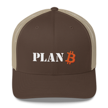Load image into Gallery viewer, PLAN B Bitcoin Trucker Cap - moeda-rags
