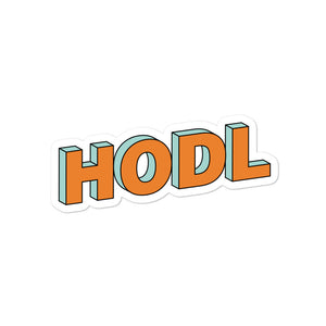 HODL 3D EFFECT Bubble-free stickers - moeda-rags