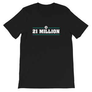 '21 MILLION' Short-Sleeve Unisex T-Shirt - moeda-rags