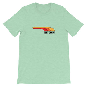 RETRO BITCOIN Short-Sleeve Unisex T-Shirt - moeda-rags