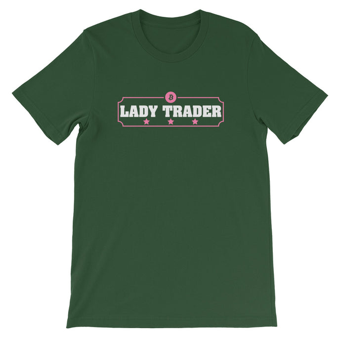 LADY TRADER Short-Sleeve Unisex T-Shirt - moeda-rags