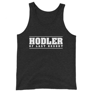 HODLER OF LAST RESORT Unisex  Tank Top - moeda-rags