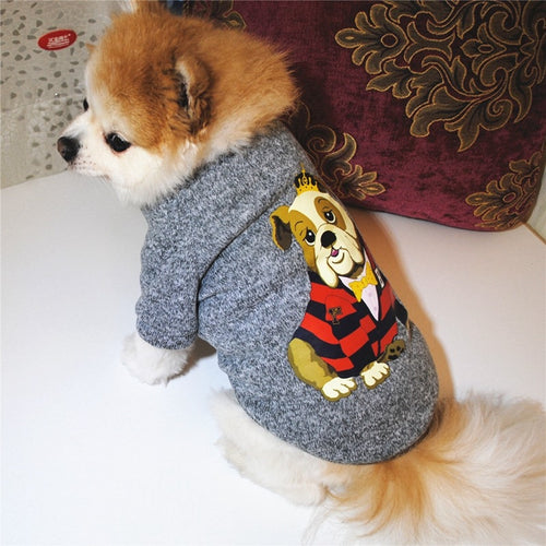 Cheap Dog Sweaters Clothes Dachshund Dog Jumper Knitted Dog Coat Shih Tzu Clothes Sweate Hooded Outfit Ropa Perro Jersey Perro