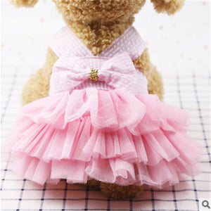 2019 Hot Pet Dogs Ballet vestidos Clothes Puppy Cat Lace Tutu Dress Chihuahua Cute Dog Apparel Dresses Supplies New Dogs Costume