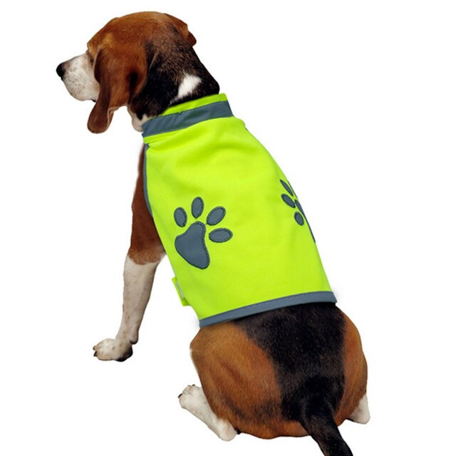 Dog High Visibility Jacket Reflective Vest Dog Fluorescent Safety Jacket fluorescent harness dogs Comfortable Breathable Outdoor