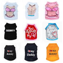 Load image into Gallery viewer, 10 Style Pet Dog /Cat clothing Small Dog Cat Clothes Summer Cute Puppy Cat Kitten T-shirt Summer Vest Shirt Apparel for Spring