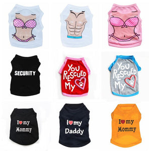 10 Style Pet Dog /Cat clothing Small Dog Cat Clothes Summer Cute Puppy Cat Kitten T-shirt Summer Vest Shirt Apparel for Spring