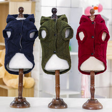 Load image into Gallery viewer, Three-color Jacquard Cotton Coats For Pet With Hat Autumn Winter Dog Clothes Sweaters Jumper Pet Shop Dog Sweaters Pet Product
