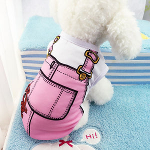New Cute Puppy Vest Shirts Pet Dog Clothes Hoodies Coats Funny Costumes Spring Clothing For Dog Summer Puppy Dog Shirts Clothes