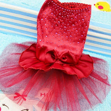 Load image into Gallery viewer, Pet Cat Dog Tutu Dress Rhinestone Bowknot Puppy Princess Dress Party Dog Dress Wedding Dress Pet Clothes