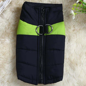 Winter Warm Pet Dog Clothes Fashion Pop Waterproof Winter Warm Padded Coat Pet Vest Jacket 8 Sizes