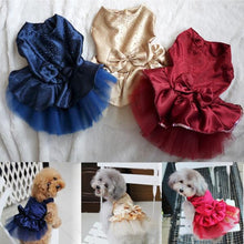 Load image into Gallery viewer, Summer Dog Dress Pet Dog Clothes for Small Dog Wedding Dress Skirt Puppy Clothing Spring Fashion Jean Pet Clothes XS-XXL