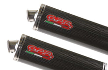 Load image into Gallery viewer, Ducati 749 999 GPR Exhaust Systems Carbon Oval Slipon Mufflers