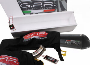 Derbi DRD 125 R-SM 2009-2013 GPR Exhaust Systems GPE CF Slipon Muffler Silencer