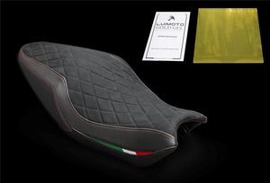 Ducati Monster 821 1200 2014-2016 Luimoto Suede Diamond Edition Seat Cover New