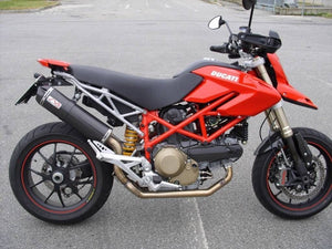 Ducati Hypermotard 1100 /S Silmotor Exhaust Full System Carbon Oval Road Legal