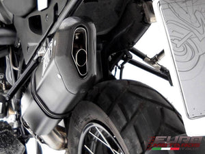 BMW R1200GS & Adventure 2010-2012 Zard Exhaust Penta Black Silencer Carbon Cap