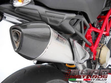Load image into Gallery viewer, Ducati Hypermotard 1100-Evo Zard Exhaust Scudo Full 2>1 System Titanium/Carb Cap