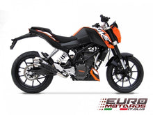 Load image into Gallery viewer, KTM Duke 125-200 Zard Exhaust V2 Racing Slipon Silencer + Carbon Heat Shield