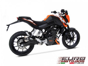 KTM Duke 125-200 Zard Exhaust V2 Racing Slipon Silencer + Carbon Heat Shield