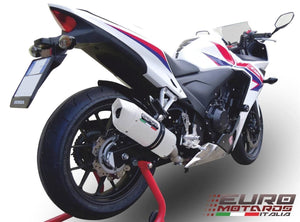Honda CBR 600F 1991-1998 GPR Exhaust Systems Albus White Slipon Silencer