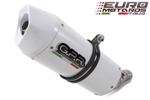 Suzuki GSX600F 1998-2005 GPR Exhaust Systems Albus White Slipon Silencer
