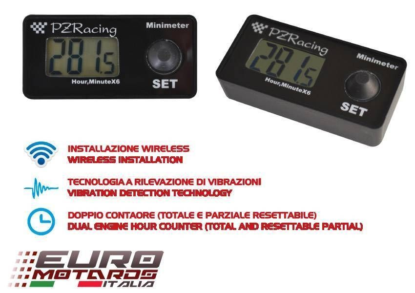 PZRacing MiniMeter Wireless Engine Hour Meter Racing/Motocross/SBK/Superspor